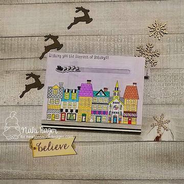 Main Street Christmas Stamp Set ©2019 Newton's Nook Designs