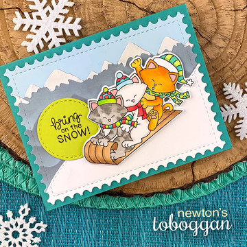 Newton's Toboggan Stamp Set ©2019 Newton's Nook Designs