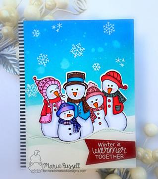 Frosty Folks Stamp Set ©2019 Newton's Nook Designs