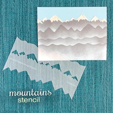 Mountains Stencil  ©2019 Newton's Nook Designs