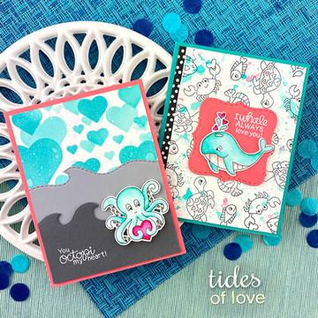 Tides of Love Stamp Set ©2020 Newton's Nook Designs