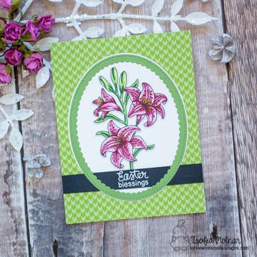 Easter Lily Stamp Set ©2020 Newton's Nook Designs