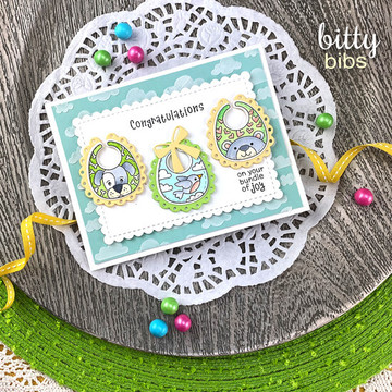 Bitty Bibs Stamp Set ©2020 Newton's Nook Designs