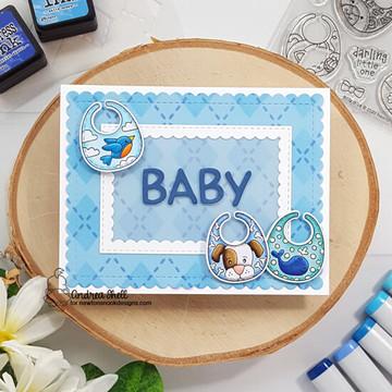 Bitty Bibs Stamp Set ©2020 Newton's Nook Designs
