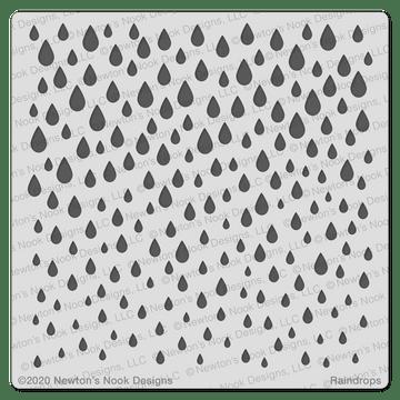 Raindrops Stencil ©2020 Newton's Nook Designs