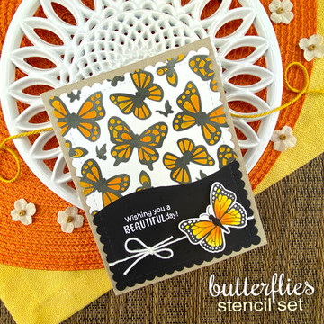 Butterflies Stencil Set ©2020 Newton's Nook Designs