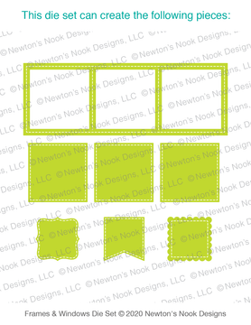 Slimline Frames & Windows Die Set ©2020 Newton's Nook Designs