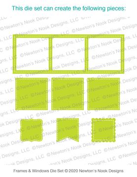 Slimline Frames & Windows Die Set ©2020 Newton's Nook Designs