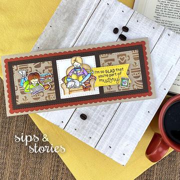 Sips & Stories Stamp Set ©2020 Newton's Nook Designs