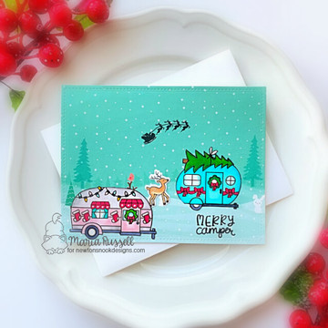 Christmas Campers Stamp Set ©2020 Newton's Nook Designs