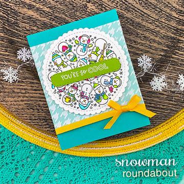 Snowman Roundabout Stamp Set ©2020 Newton's Nook Designs
