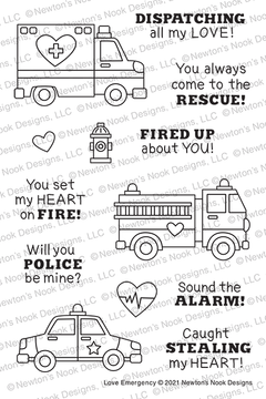 Love Emergency Stamp Set ©2021 Newton's Nook Designs