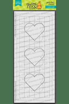 Slimline Masking Hearts Stencil Set ©2021 Newton's Nook Designs