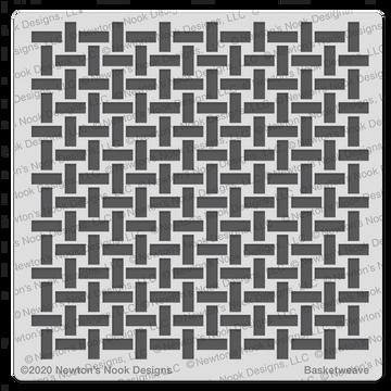 Basketweave Stencil ©2021 Newton's Nook Designs