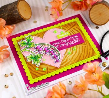 Bleeding Heart Stamp Set ©2021 Newton's Nook Designs