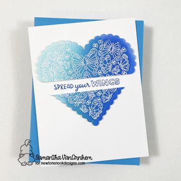 Heartfelt Butterflies Stamp Set ©2021 Newton's Nook Designs