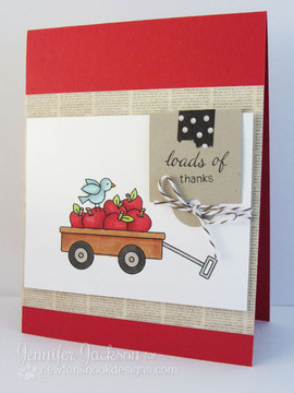 Loads of Thanks Apples in Wagon card  | Wagon of Wishes Stamp Set © 2013 Newton's Nook Designs.