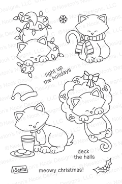 Newton's Holiday Mischief | 4x6 photopolymer Stamp Set ©2013 Newton's Nook Designs