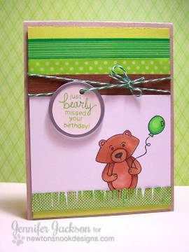 Bearly missed your birthday card  | Wintston's Birthday Bear stamp set by Newton's Nook Designs