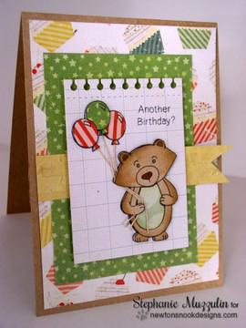 Another Birthday Bear | Wintston's Birthday Bear stamp set by Newton's Nook Designs