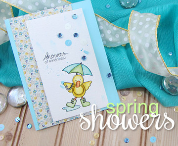 Showers of Love Card | Spring Showers stamp set ©2014 Newton's Nook Designs.
