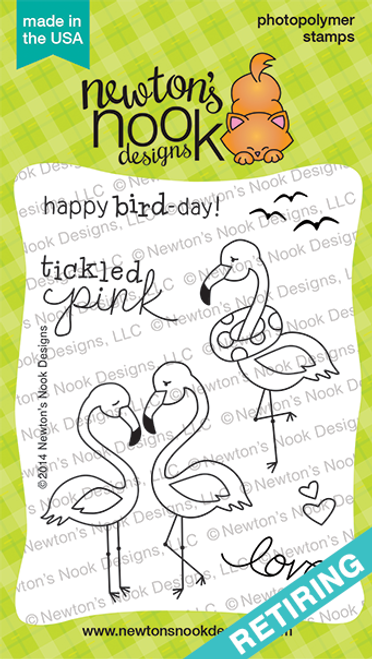 Flirty Flamingos | 3x4 photopolymer Stamp Set | ©2014 Newton's Nook Designs