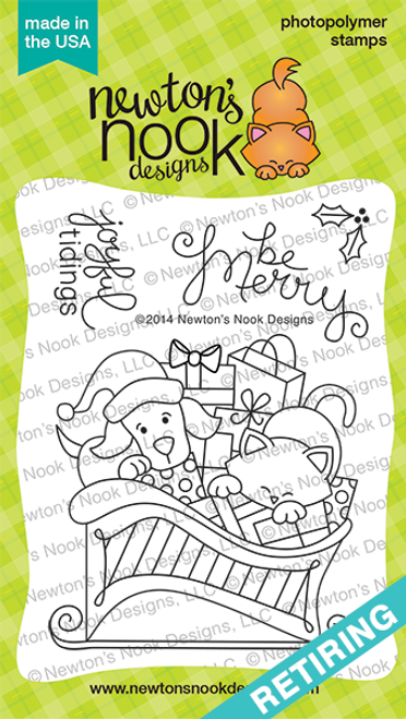Christmas Delivery | 3x4 photopolymer Stamp Set | ©2014 Newton's Nook Designs