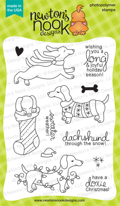 Holiday Hounds | 4x6 photopolymer Stamp Set | ©2014 Newton's Nook Designs