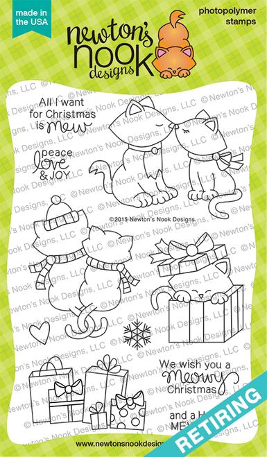 Newton's Christmas Cuddles   4x6 Photopolymer Stamp Set   ©2015 Newton's Nook Designs