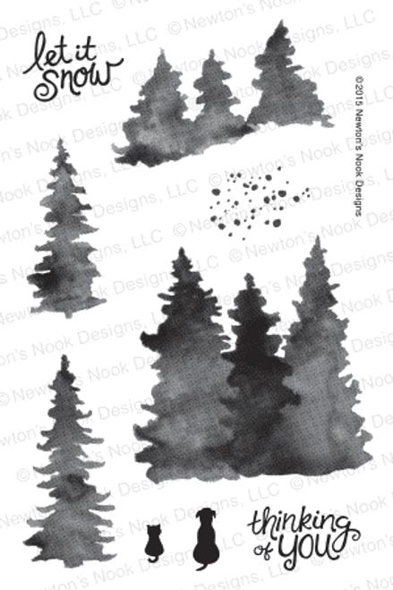 Whispering Pines | 4x6 Photopolymer Stamp Set | ©2015 Newton's Nook Designs