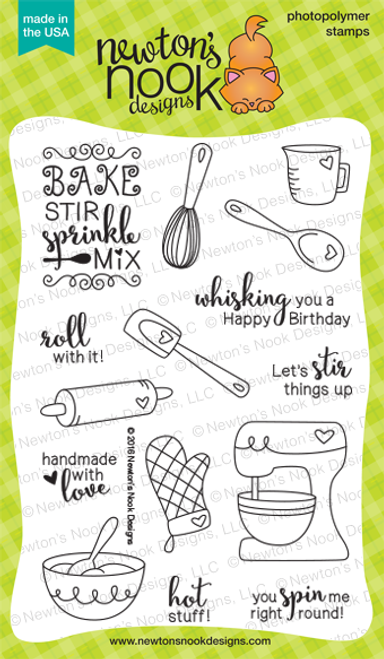 Made from Scratch | 4x6 Photopolymer Stamp Set | ©2016 Newton's Nook Designs