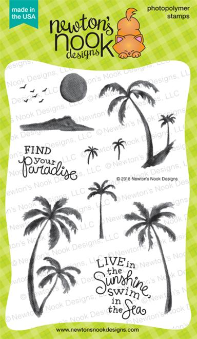 Paradise Palms Stamp Set ©2016 Newton's Nook Designs
