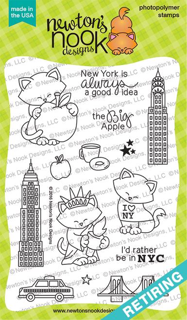 Newton Dreams of New York Stamp Set ©2016 Newton's Nook Designs