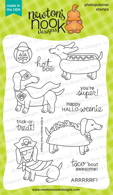 Dress Up Doxies Stamp Set ©2016 Newton's Nook Designs