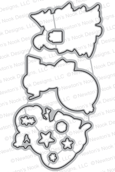 Newton's Curious Christmas Die Set ©2016 Newton's Nook Designs