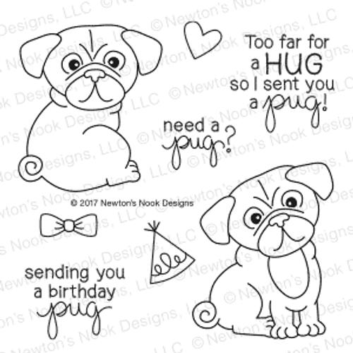 Pug Hugs Stamp Set ©2017 Newton's Nook Designs