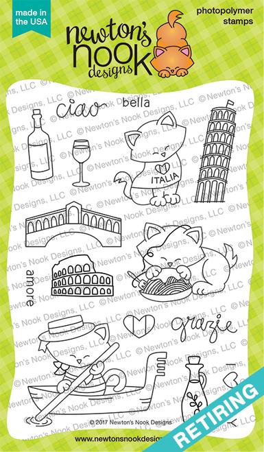 Newton Dreams of Italy  Stamp Set ©2017 Newton's Nook Designs