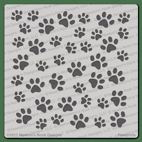 Pawprints Stencil ©2017 Newton's Nook Designs