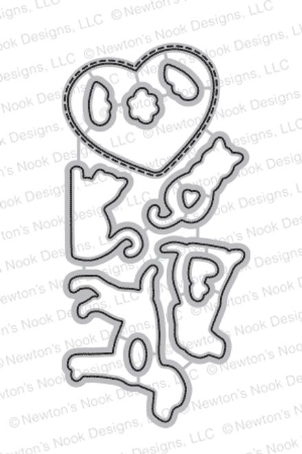 Furr-ever Friends Die Set ©2017 Newton's Nook Designs