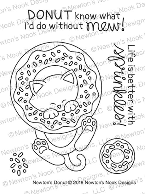 Newton's Donut Stamp Set ©2018 Newton's Nook Designs