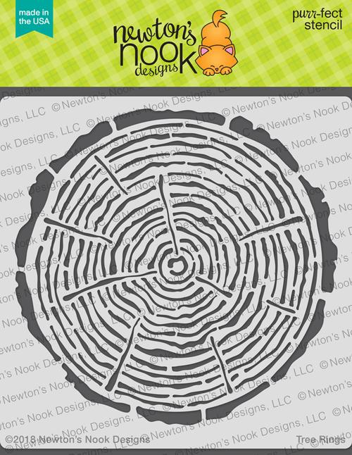 Tree Rings Stencil ©2018 Newton's Nook Designs