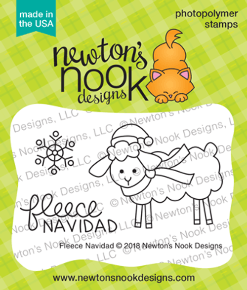 Fleece Navidad Stamp Set ©2018 Newton's Nook Designs