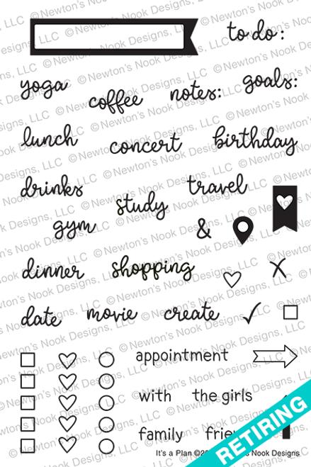 It's A Plan Stamp Set ©2019 Newton's Nook Designs