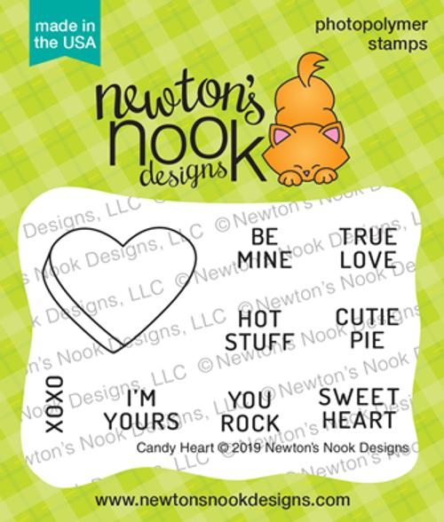 Candy Heart Stamp Set ©2019 Newton's Nook Designs