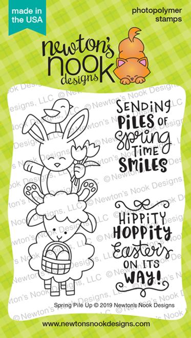 Spring Pile Up Stamp Set ©2019 Newton's Nook Designs