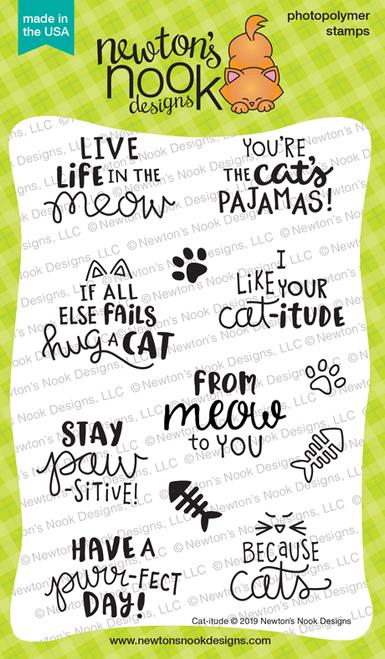 Cat-itude Stamp Set ©2019 Newton's Nook Designs