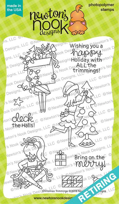 Christmas Trimmings Stamp Set ©2019 Newton's Nook Designs