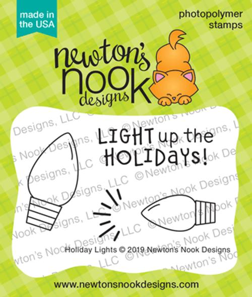 Holiday Lights Stamp Set ©2019 Newton's Nook Designs
