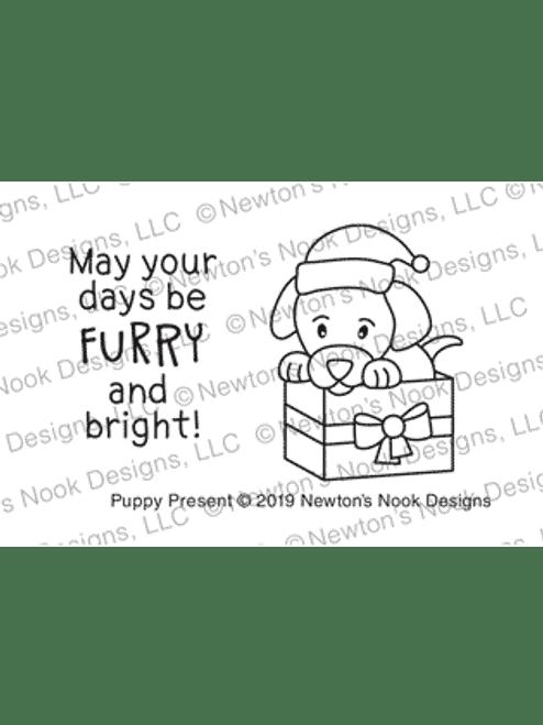 Puppy Present Stamp Set ©2019 Newton's Nook Designs