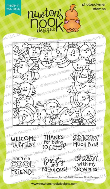 Snowman Party Stamp Set ©2019 Newton's Nook Designs